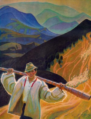 Shepherd, 1969, oil on canvas