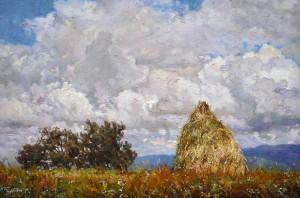 Haystack and Clouds, 2011, 60x40