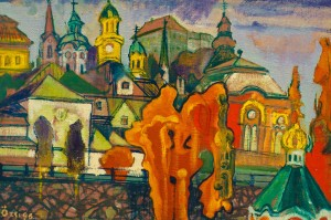 F. Seman, View of Uzhhorod,1996