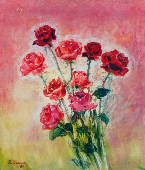Late Roses, 1986, oil on cardboard, 65x47