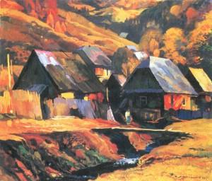 Вечір у горах, 1993, карт.темп., 60х70