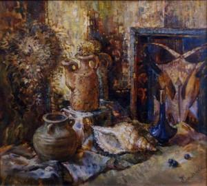 Натюрморт з мушлею, 2001, п.о., 50х60