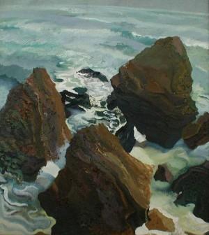 'Three Stones', 1997, oil on canvas, 75x80.jpg