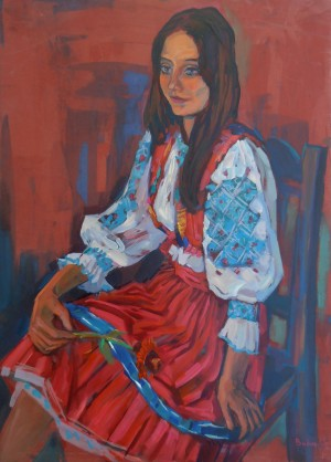 A Woman in Traditional Garments