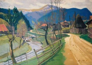 View On Polonyna Plai (Huklyvyi Village), 1961, oil on canvas, 85x119,5
