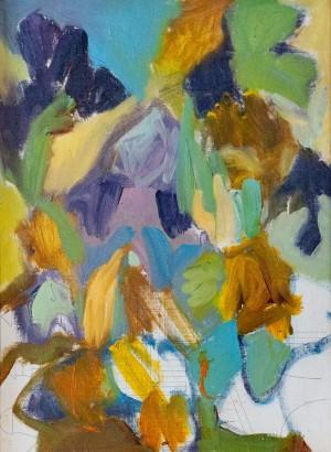 'Petals Of Irises', 2017, oil on canvas, cardboard