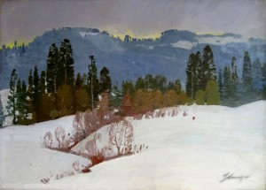 Winter Day, oil on canvas, 65x89
