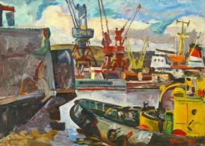 Port In Tiksi', 1988, 56x76