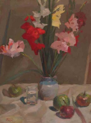 Still Life With Gladioli, 1961, oil on canvas, 79,5x59,5