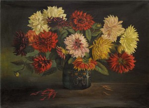 Still Life With Dahlia, the 1950s, oil on canvas, 60x80