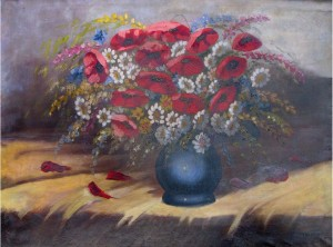 Still Life With Poppies, oil on canvas, 59x80