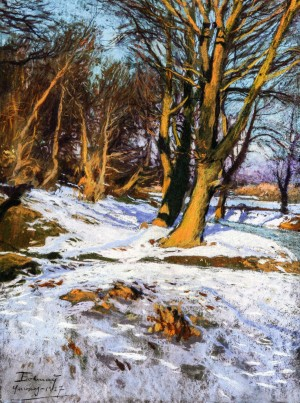 Winter, 1927, pastel on paper, 64x48