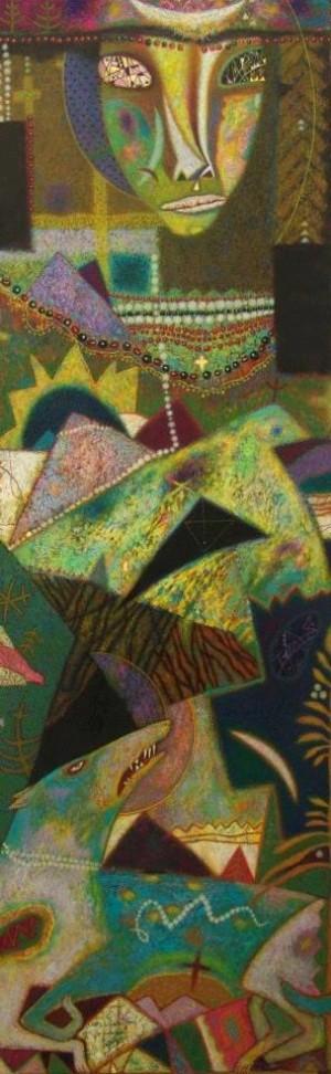 Наречена гір, 2005, двп, левкас, жовткова емульсія, т.