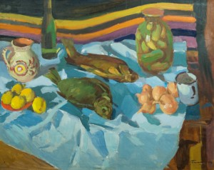 Still Life With Breams, 1974, oil on canvas, 80x100
