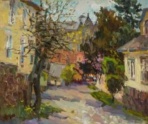 Alina Kryvonos. Cityscape. 2017. 50х60