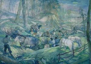 Вивіз лісу, 1947, п.о., 200х300