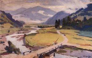 Карпатська долина, 1965, п.о. 50х78