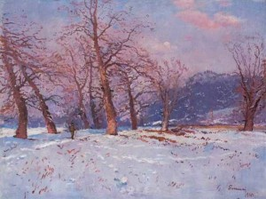 Winter Landscape, 1960, oil on canvas, 75.5x100