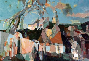 View Of The Town From Kapitulna Street, 2006, oil on canvas, 70x100