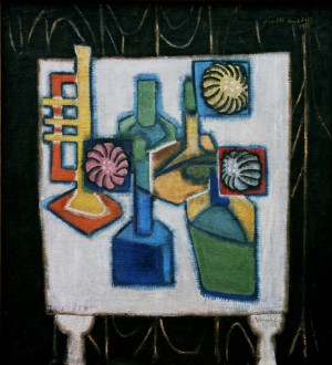 Still Life With Pipe, from the photo archive of Y. Nebesnyk, 1974, oil on canvas, 111x101