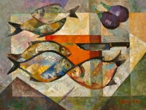'П'ять риб', 2008, 60х80