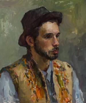 Alina Kryvonos. Portrait. 2017. 50х60