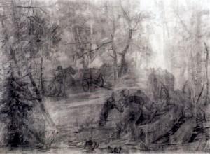 Вивіз лісу, 1940, пап.вуг.ол., 92х122