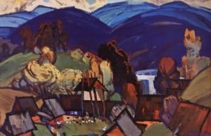 Карпатський мотив, 1970, п.о. 100х120