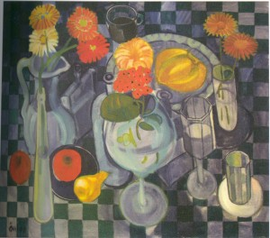 Still Life With Fruits And Flowers, 1990, oil on canvas, 87x103