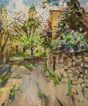 Olena Kryvonos. Cityscape. 2017. 50х60