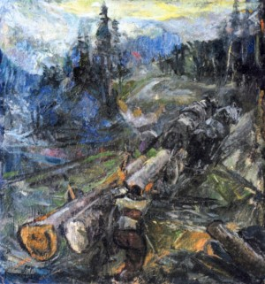Removal of the Forest, 1940, oil on canvas, 75x71