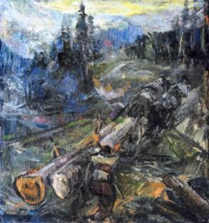 Вивіз лісу, 1940, п.о., 75х71
