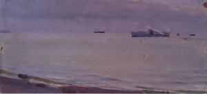 Катер в морі біля Хости, 1956, к.о. 11х25