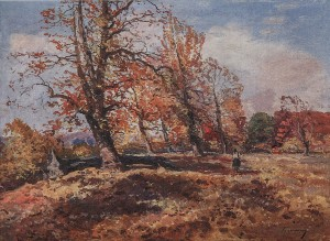 Golden Autumn, 1950s, oil on cardboard, 75x100