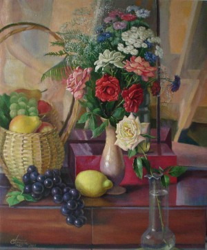 Still Life With The Basket, oil on canvas, 65x50