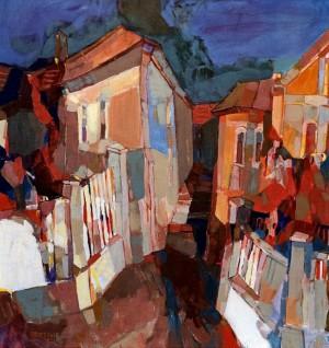Orange Scenery, 2006, oil on canvas, 85x75