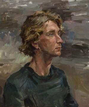Olena Kryvonos. Portrait. 2017. 50х60