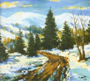 Повіяло весною, 1991, 60x70