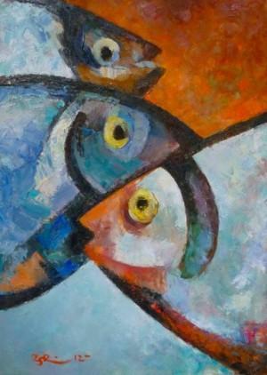 Fish', 2012, 60x45
