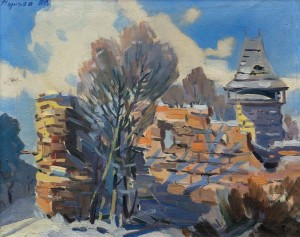 Nevytskyi Castle, the 1950s, oil on canvas, 39,5x48,5