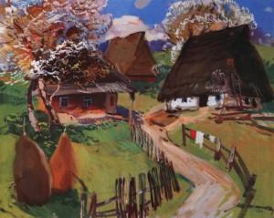 Квітуче село, 1977, п.о. 60х75