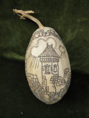 Невицький замок, 1987, різьба по живому