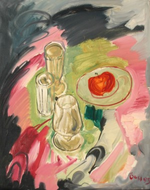 Still Life With Apples, from the photo archive of Y. Nebesnyk, 1993, oil on canvas, 75x60