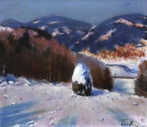 Поезія зими, 1983, 50x60