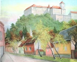 'Mukachevo Castle', 2001, oil on canvas, 70x90
