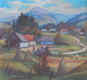 Село в горах, 2010, п.о., 60х50