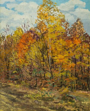 Autumn Forest, 1983, oil on cardboard, 80x65,5