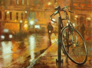 Bicycle, 2015, oil on canvas, 45x60