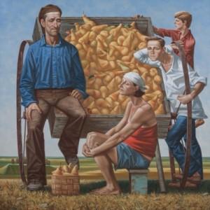 Продавці груш, 2015, п.о., 130х130