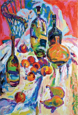 'Still Life With Bottles', 2008, oil on canvas, 125х85